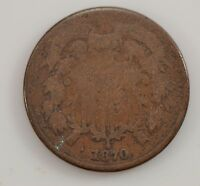1870 TWO-CENT PIECE G33