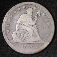 1859 SEATED LIBERTY QUARTER CHOICE FINE E623 NC
