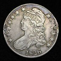 1826 CAPPED BUST HALF DOLLAR DETAIL XF E616 CL