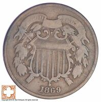 1869 TWO CENT PIECE YB17