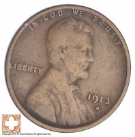 1913-S LINCOLN WHEAT CENT YB50