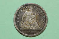 GRADES GOOD 1840 P LIBERTY SEATED 90 SILVER DIME SLD605