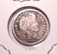 1895 O BARBER DIME CIRCULATED COIN WITH SOME DARK CORROSION  DATE 1