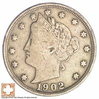 1902 LIBERTY V NICKEL XB15