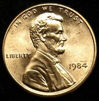 1984 UNCIRCULATED LINCOLN MEMORIAL CENT PENNY BU B02