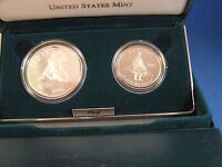 1995 S CIVIL WAR BATTLEFIELD 2 COIN PROOF SET   IN CASE WITH COA