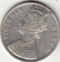 1862 BRITISH INDIA QUEEN VICTORIA ONE RUPEE SILVER COIN WITH 6 DOTS LOT BX1
