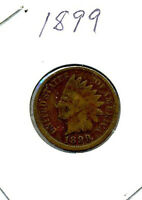 AN OLD 1899 INDIAN HEAD CENT 1C PENNY 117 YEARS OLD A NICE OLD COIN 300