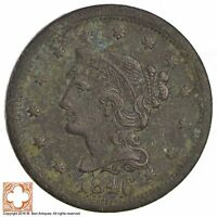 1846 BRAIDED HAIR LARGE CENT 3558