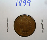 1899 INDIAN HEAD PENNY,US INDIAN HEAD CENT 1899 C