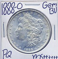 1888 O MORGAN DOLLAR UNCIRCULATED US MINT GEM PQ SILVER COIN BU UNC MS