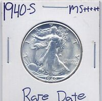 1940-S WALKING LIBERTY HALF DOLLAR  DATE US MINT SILVER COIN BU UNC MS