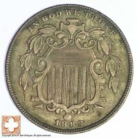 1883 SHIELD NICKEL   US TYPE COIN YB29
