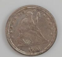 1891 LIBERTY SEATED QUARTER DOLLAR G47