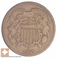 1865 TWO CENT PIECE YB32