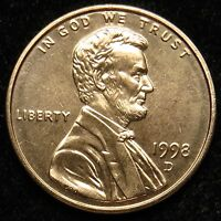 1998 D UNCIRCULATED LINCOLN MEMORIAL CENT PENNY BU B05