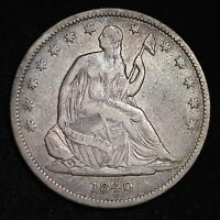 1840 SEATED LIBERTY HALF DOLLAR CHOICE VF  E269 TMM