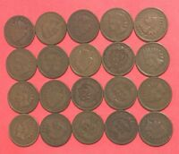 1800S 1900S US INDIAN HEAD CENTS SET OF 20 ASSORTED ALL GOOD & BETTER COINS