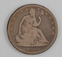 1860 O LIBERTY SEATED HALF DOLLAR G77