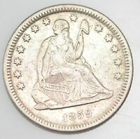 1859 O LIBERTY SEATED QUARTER DOLLAR 4029