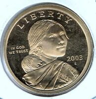 2003 SAN FRANCISCO PROOF SACAGAWEA NATIVE AMERICAN DOLLAR COIN