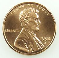 1998 D UNCIRCULATED LINCOLN MEMORIAL CENT PENNY BU B03