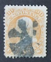 CKSTAMPS: US STAMPS COLLECTION SCOTT100 30C FRANKLIN USED TINY TEAR CV$950