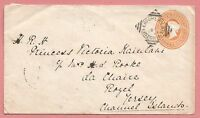 1895 INDIA TPO CANCEL COVER TO PRINCESS VICTORIA KAIULANI OF HAWAII IN JERSEY