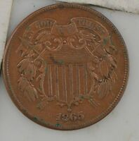1865 TWO CENT PIECE Z72
