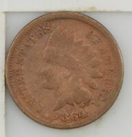 1864 INDIAN HEAD ONE CENT CIVIL WAR DATE Z73