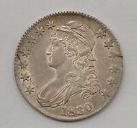 1830 LARGE 0 CAPPED BUST SILVER HALF DOLLAR Q33