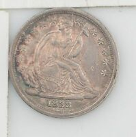 1838 LIBERTY SEATED DIME LARGE STARS Y118