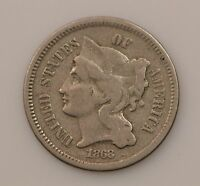 1868 NICKEL THREE CENT PIECE Q40