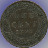 1897 CANADA LARGE CENT COIN