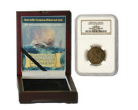 1   1808 SUNKEN TREASURE COIN SHIPWRECK OF ADMIRAL GARDNER NGC HIGH GRADE IN BOX