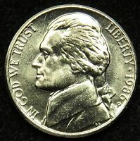 1986 P UNCIRCULATED JEFFERSON NICKEL BU B02