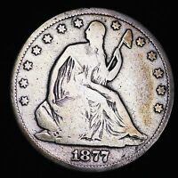 1877 CC SEATED LIBERTY HALF DOLLAR CHOICE G  E211 ET