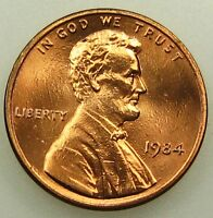 1984 UNCIRCULATED LINCOLN MEMORIAL CENT PENNY B04