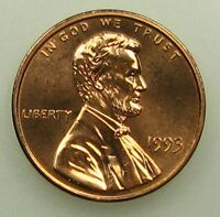 1993 UNCIRCULATED LINCOLN MEMORIAL CENT PENNY B02