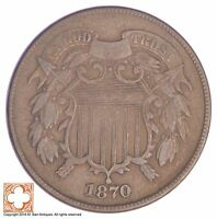 1870 TWO CENT PIECE YB28