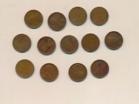 LINCOLN 1925-D TO 1929-S LOT OF 13