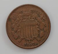 1867 TWO-CENT PIECE Q07