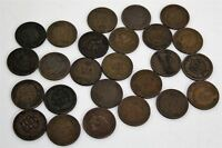 25 X MIXED INDIAN HEAD PENNY COIN LOT 1/2 ROLL DIFFERENT DATES 1800S 1900S