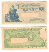 ARGENTINA NOTE 1 PESO 1944 GAGNEUX BOSCH SERIAL J B 1826 P 251C XF