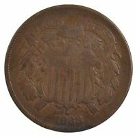 1868 TWO-CENT PIECE J95