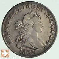 1803 DRAPED BUST HALF DOLLAR LF3 2362