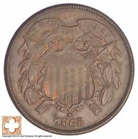 1865 TWO CENT PIECE YB76