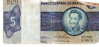 BRAZIL 1970 80 5 CRUZEIROS CURRENCY