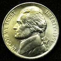 1991 D UNCIRCULATED JEFFERSON NICKEL BU B02