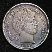 1899 BARBER DIME CHOICE AU  E270 CF